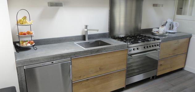 Keuken betonnen aanrechtblad