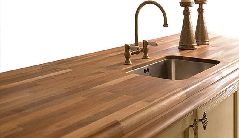 Houten Werkblad Keuken : Houten werkblad klassiek groot tuijps tegels sanitair en keukens